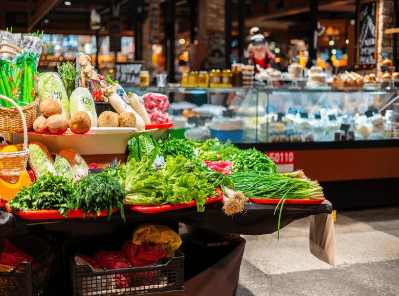Étale fruit et légumes